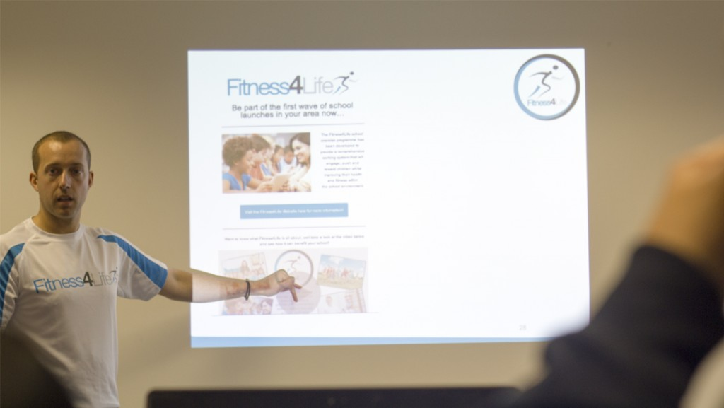 Chris Sharman training the new Fitness4Life franchisees